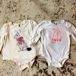 Pair of 12-18 month bodysuit shirts